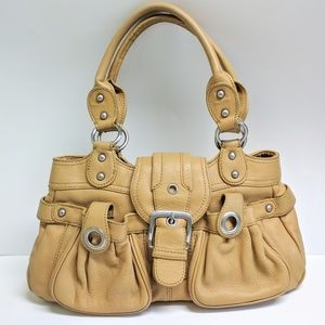Wilson's leather tan shoulder bag purse